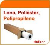Lona, poliéster, polipropileno