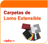 Carpetas de lomo extensible