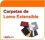 Carpetas de lomo extensible