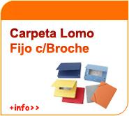 Carpetas de lomo fijo con broche