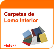 Carpetas de lomo interior