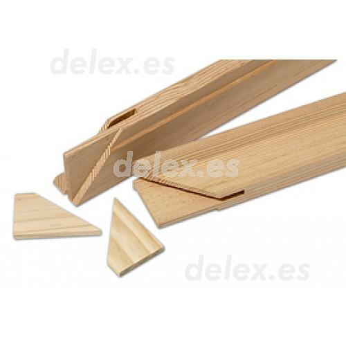Listones bastidor de madera de pino para lienzos y canvas - Liston de madera ...