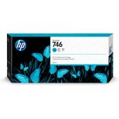 Tinta HP 746 Cian de 300 ml. p2v80A