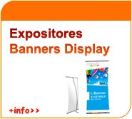 Expositores banners display