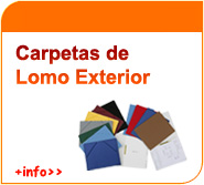 Carpetas de lomo exterior