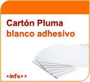 Carton pluma adhesivo