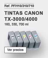 Tintas Canon PFI110-310