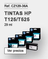 Tintas HP Designjet T125/T525