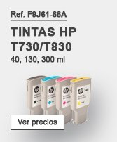 Tintas HP T730/T830