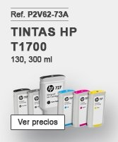 Tintas HP Designjet T1700