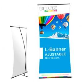 Display L-Banner ajustable
