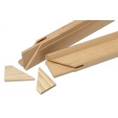 Listón de madera para lienzos
